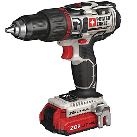 PORTER-CABLE PCC620LB 20V MAX Lithium Ion Hammer Drill Kit (Lightweight Corded Drill)