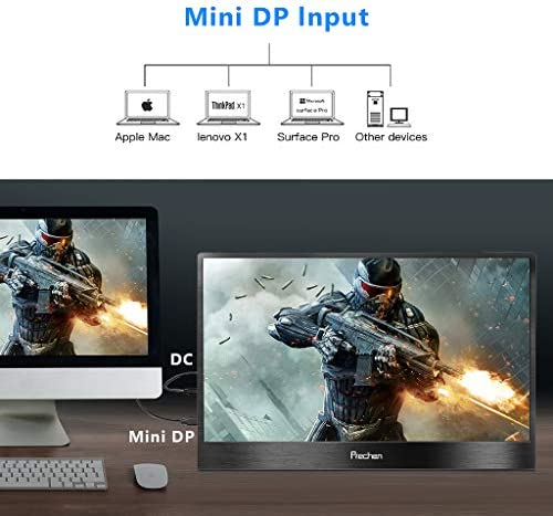 PORTABLE MONITOR,13.3 INCH USB-C PORTABLE DISPLAY,3200X1800 COMPUTER MONITOR GAME SCREEN TYPE-C HDMI MONITOR FOR LAPTOP PC MAC PHONE XBOX,PROTECT CASE INCLUDED PRECHEN