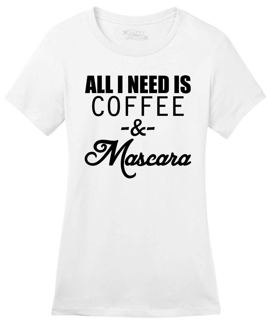 All I Need Is Coffee Mascara Funny T Shirt Soft Tee