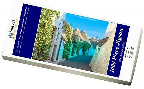 Media Storehouse 1000 Piece Puzzle of Narrow street with trulli houses in Alberobello (11981406)