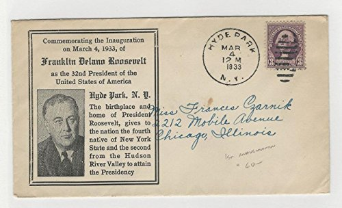United States, Postage Stamp, Cover Roosevelt Inauguration 1933, Hyde Park