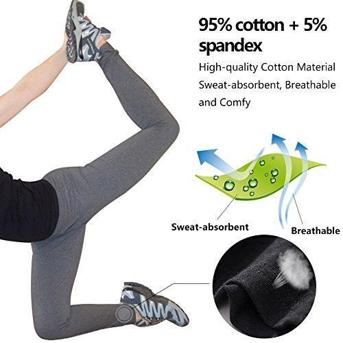 Abusa Woman Pantaloni 2 Pilates per sportivi Yoga grigio Gym palestra nero Legging pezzi rdrKwxCtqB