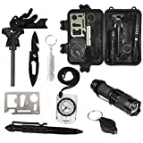 Emergency Survival Kits 10 in 1, CHANGKU Multi Professional Survival Tools Outdoor Survival Gear Kit for Traveling Hiking Biking Climbing Hunting