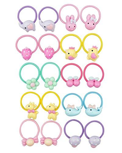 - Belle Beau Baby Girls Bow Elastic Ties,Ponytail Holders,Hair Bands,Hair Elastics,Value Set (M)