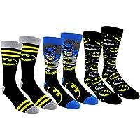 DC Comics Justice League Mens Casual Crew Socks 2& 3Par Packs