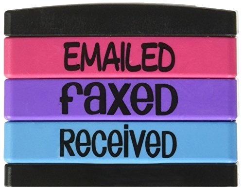 Stack Stamp Pre-Inked Triple Message Stamp, EMAILED, FAXED, Received (8800) ()