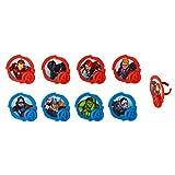 Marvel Avengers Mightiest Hero Cupcake Rings - 24 Count
