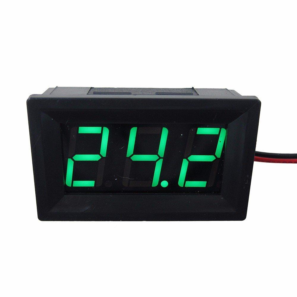 DIGITEN 0.56 Red DC 4.5-120V Digital Voltmeter Voltage Measurement 2 Wires Gauge LED Panel