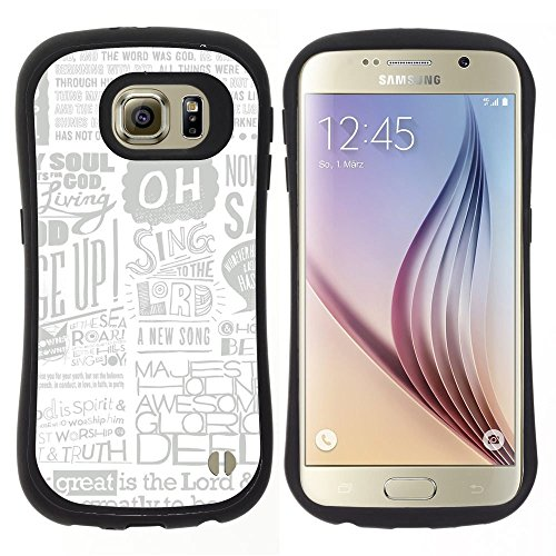 Pulsar iFace Series Soft TPU Skin Bumper Case Cover for Samsung Galaxy S6 , Newspaper Ad Poster Art Singing Quote (Newspaper Ad Cover)