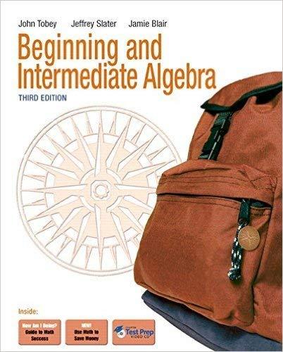Beginning &Intermediate Algebra, Books a la Carte Plus MyMathLab/MyStatLab Student Access Kit (3rd Edition)