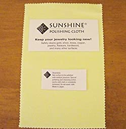 15 Sunshine Polishing Cloth for Sterling Silver, Gold, Brass and Copper Jewelry Polishing Cloth