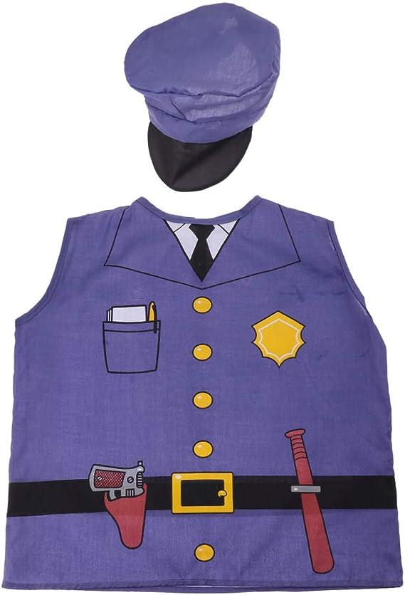 FITYLE Uniforme Escolar Unisex Niño Uniforme Disfraz Oficio Cosplay - Policía: Amazon.es: Juguetes y juegos