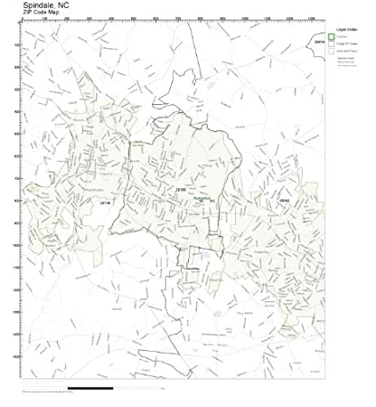 Spindale Nc Map.Amazon Com Zip Code Wall Map Of Spindale Nc Zip Code Map Laminated