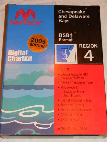 Maptech Region 4 Digital Chart Kit Chesapeake and Delaware Bays BSB4 (Maptech Digital Chart)