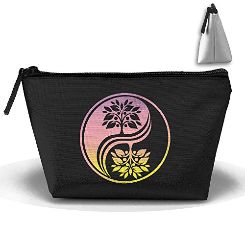 Bonsai Tree In Yin Yang Cosmetic Bags Portable Travel Toiletry Pouch Makeup Organizer Clutch Bag With Zipper (Bag Yang)