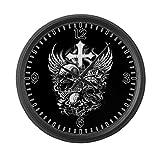Large Wall Clock God Is My Judge Skulls Cross Angel