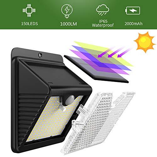 Luz Solar Exterior 2020 Mas Nuevo Modelo 6 Paquete 150 Led 1000 Lumens Iposible 180 Iluminacion Foco Solar Con Sensor De Movimiento Impermeable Lampara Solar Para Jardin Camino