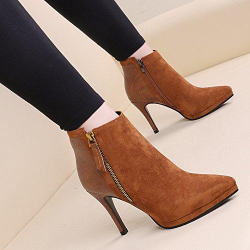 GTVERNH-eine schöne mit den stiefeln und und stiefeln weibliche wildleder, qiu dongkuan seite reißverschluss martin hochhackige stiefel, und der wind alle spiel - 3c4d77