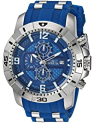 Invicta Mens Pro Diver Quartz Stainless Steel Casual Watch, Color:Blue (Model: 24963)