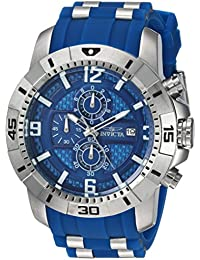 Men's 'Pro Diver' Quartz Stainless Steel Casual Watch, Color:Blue (Model: 24963)