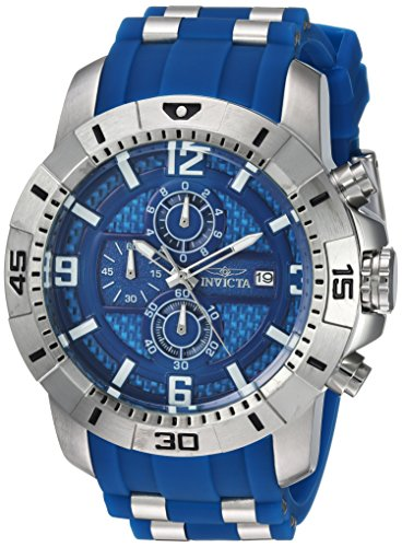 Invicta Men's Pro Diver Quartz Watch with Stainless-Steel Strap, Blue, 26 (Model: 24963)