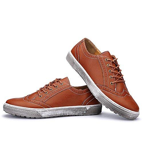 Idea Frames Heren Lederen Retro Fashion Sneaker Nbruin