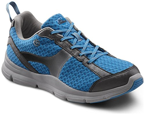 Dr. Comfort Meghan Women's Therapeutic Extra Depth Athletic Shoe: Blue 9 X-Wide (E-2E) Lace by Dr. Comfort