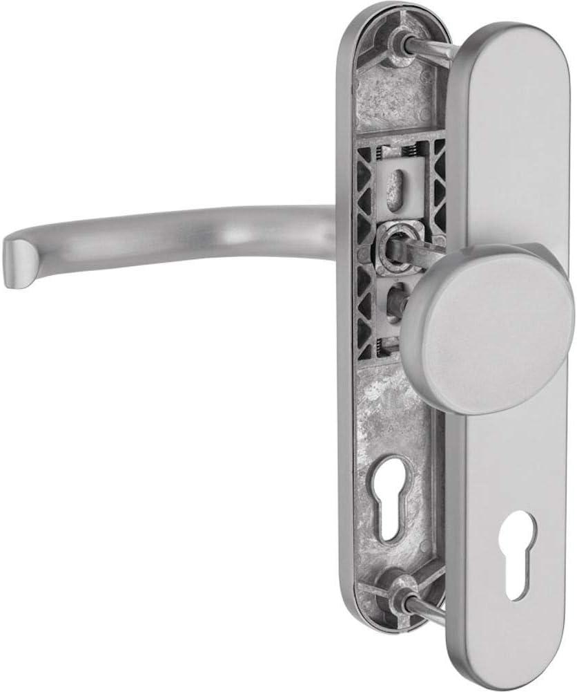 WeRo Schutzbeschlag f/ür Haust/üren Knopf//Dr/ücker mit Hochhaltefeder ALU-Silber F1