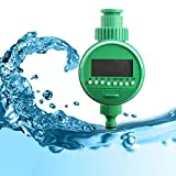 Water Timer Programmable Outdoor Automatic On Off Water Faucet Hose Timer Irrigation System (Green)