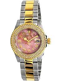 Invicta Women's Sea Base Gold-Tone Steel Bracelet & Case Swiss Quartz Pink Dial Analog Watch 20367