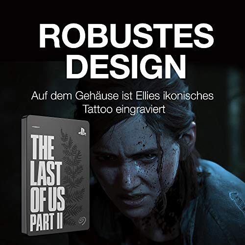 Seagate Game Drive für PS4 - The Last of Us II Special Edition, 2 TB ,tragbare externe Festplatte (6,3 cm (2,5 Zoll) USB 3.0, PS4) , ModelNr.: STGD2000202