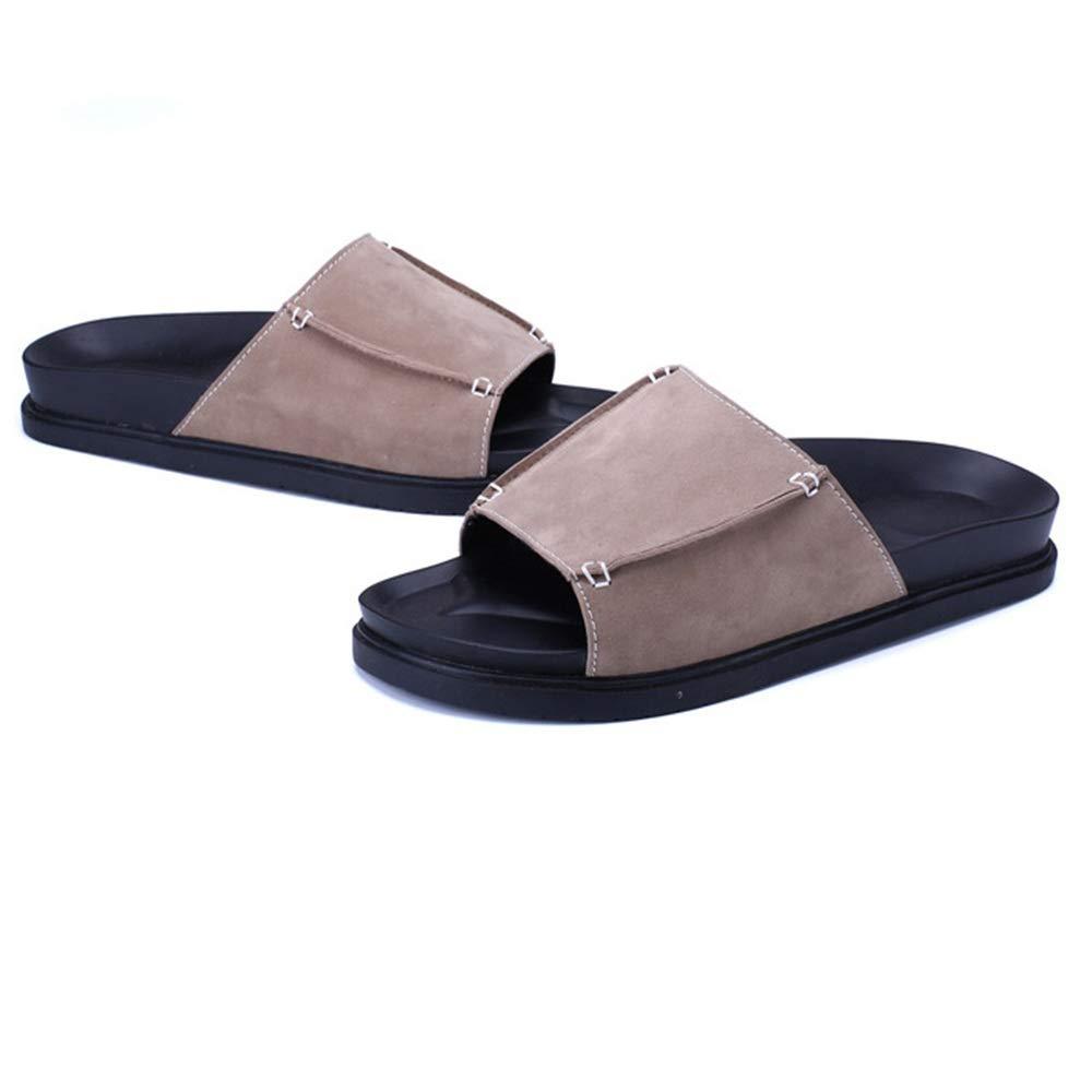 Wangcui Pantoffel-Männer (Farbe Sommer-Freizeit Anti-Rutsch-Strand-Schuhe Breathable Slippers (Farbe Pantoffel-Männer : Braun, Größe : 41 1/3 EU) Braun 1ab3bf