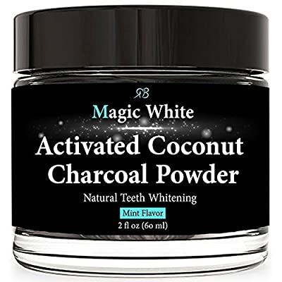 Teeth Whitening Charcoal Powder 100% Natural - with Organic Activated Coconut