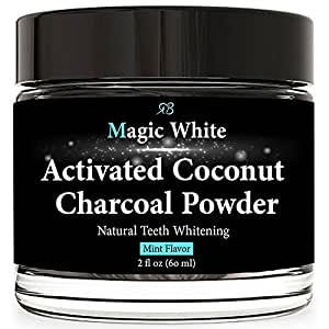 teeth whitening charcoal powder 100 natural with organic activated coconut. Black Bedroom Furniture Sets. Home Design Ideas