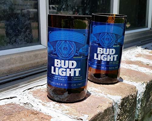 Set of 2 upcycled Bud Light ()