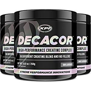 Decacor Creatine (3 Pack) - Best Creatine Powder - 10 Creatine Blend - Top Creatine Supplement - Enhance Muscles, Power and Recovery
