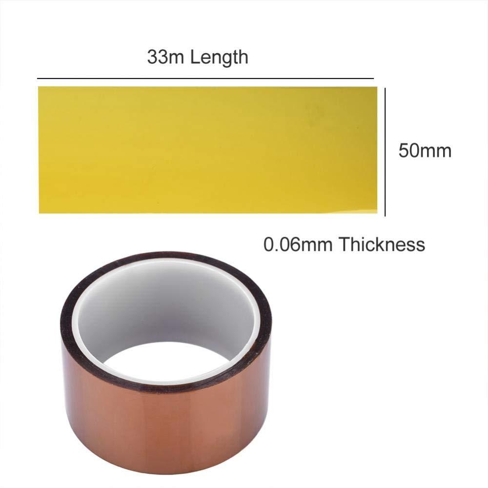 Richer-R Ruban Adh/ésif Haute Temp/érature R/ésistant /à La Chaleur Longueur Differentes 20mm Ruban Kapton R/ésistant aux Hautes Temp/ératures 250-300℃ 20mm 30mm 50mm