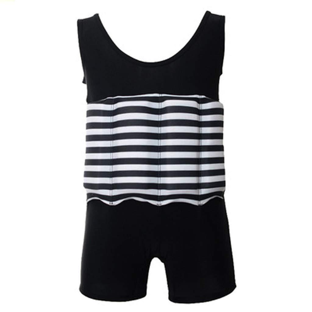 AHAYAKU Kids Float Suit with Adjustable BuoyancyConjoined Swimsuit Romper Beach Black by AHAYAKU