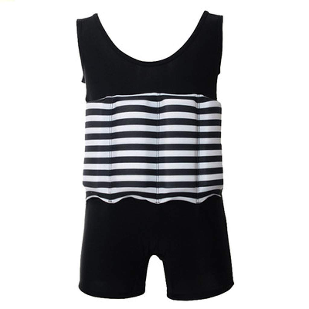 WUAI Baby Float Swimsuits Cute Toddlers Float Suit with Adjustable Buoyancy One Piece Swimwear for Boys and Girls(Black,18-24 Months)