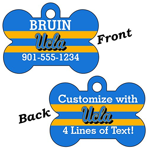 uDesignUSA UCLA Bruins Double Sided Pet Id Dog Tag Personalized With 4 Lines of Text by uDesignUSA
