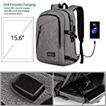 Laptop Backpack, Travel Computer Bag for Women & Men, Slim Business Backpack w/USB Charging Port,Anti Theft Water Resistant College School Bookbag 5
