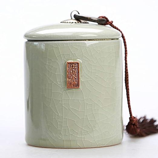 JYYC Porcelana sellada Horno cerámica té Tarro Tanque púrpura ...