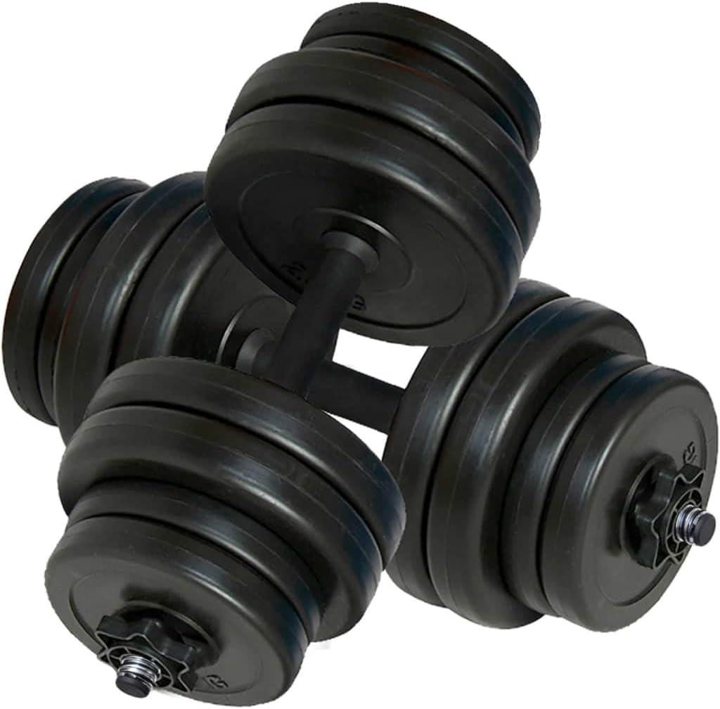 vidaXL Juego de Mancuernas Pack de Fitness Musculación Gimnasio
