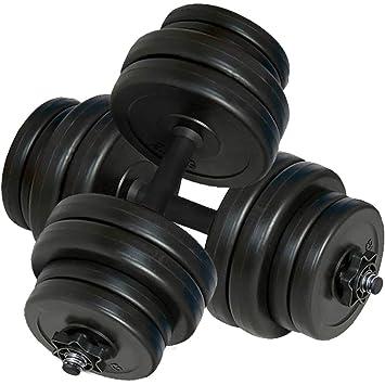 vidaXL Juego de Mancuernas Pack de Fitness Musculación Gimnasio ...