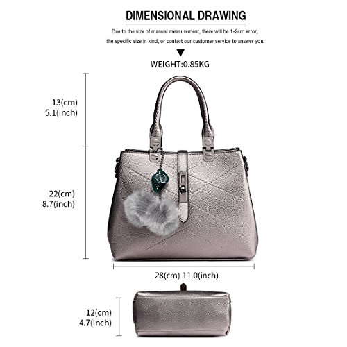 Bags Bags Leather Handbags Lulu Bronze Shoulder Top Women Handle Office Female Black Miss Lady for Pu xHwP1tIHq