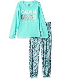 Girls CK 2pc Long Sleeve Top/Sleep Pant Set