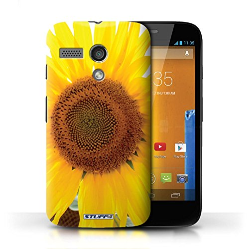 Etui / Coque pour Motorola MOTO G (2013) / Tournesol conception / Collection de floral Fleurs