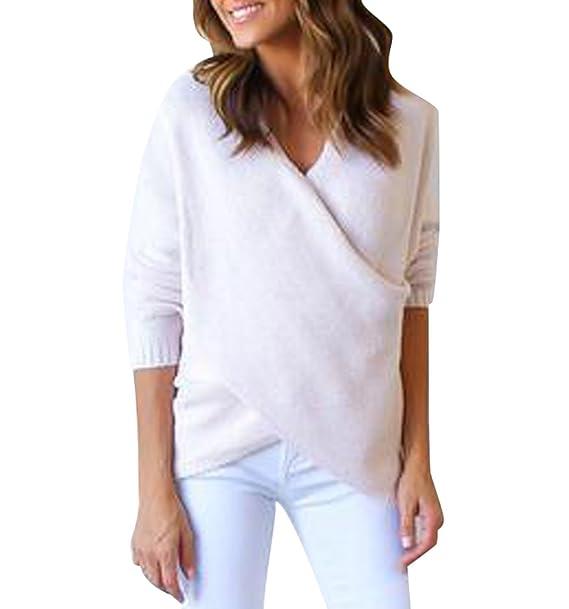 b7deaf70b9d ISSHE Suéter Jersey Jerseys de Punto Mujer Sueter Cuello V de Dama Sueteres  Prendas de Punto
