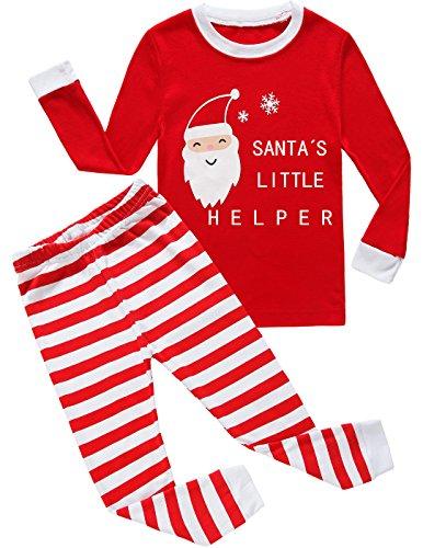 Young Boys Pajamas - Christmas Little Boys Girls Pajamas Cotton Kids Pjs Toddler Sleepwear Pant Set Size 7t