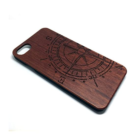 iPhone 7/iPhone 8 Case, BTHEONE Unique Shock Proof Hybrid Rubberized Cover [Wood Over Rubber] Soft Real Wood Case Cover… 2 √ Compatible with iPhone 7 (Not for iPhone7 Plus) √ Naturally wood different,each wood back has a unique grain and texture. √ Specially designed for iPhone 7, has precise design for speakers, charging ports, audio ports and buttons.